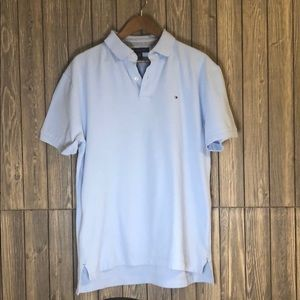 Tommy Hilfiger Classic Fit Baby Blue Polo Size L